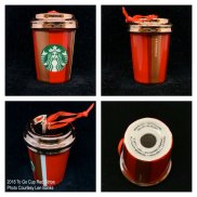 2018 To Go Cup Red Stripe Starbucks Ornament