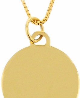 blank gold-colored pendant