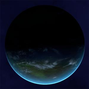 A terrestrial procedural planet