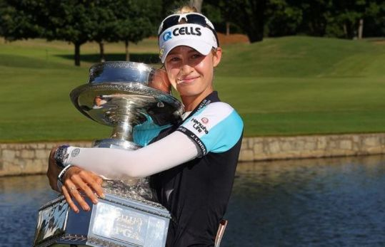 Nelly Korda in a major championship