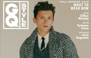 Tom Holland in gq style magazine cover page