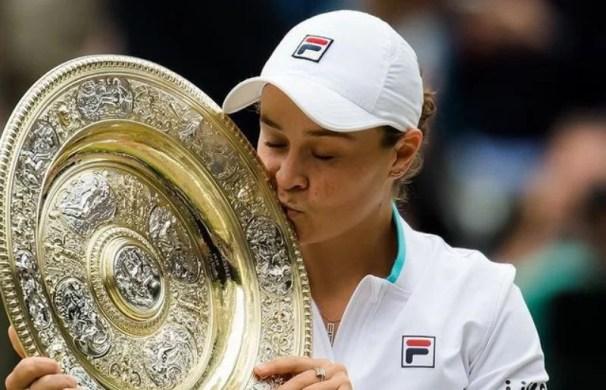 Ashleigh Barty at the Wimbledon