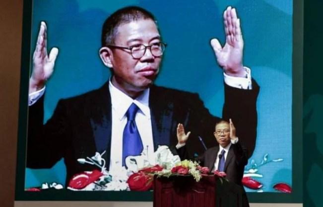 Zhong Shanshan in business meeting