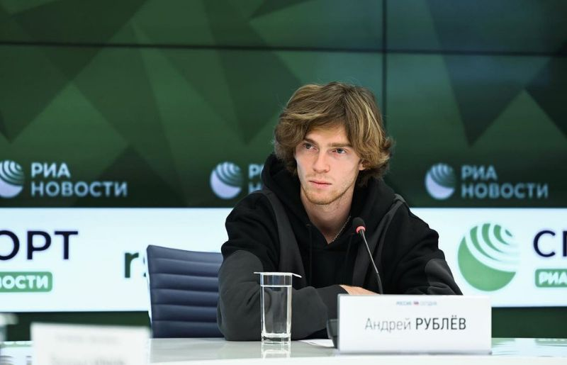 Andrey Rublev at the media day mascow
