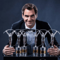 Roger Federer at Winners Press Conference and Photocalls