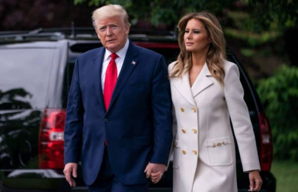 Melania Trump at White House For Memorial Day