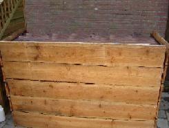 ruw houten dj bar voor apresski of western feesten