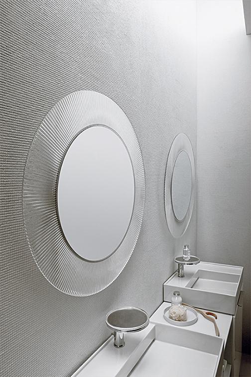 Kartell All Saints Modern Round Wall Mirror Stardust