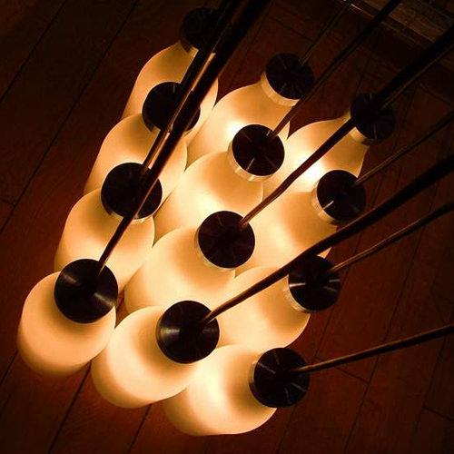 Droog Milk Bottle Lamps Chandelier By Tejo Remy