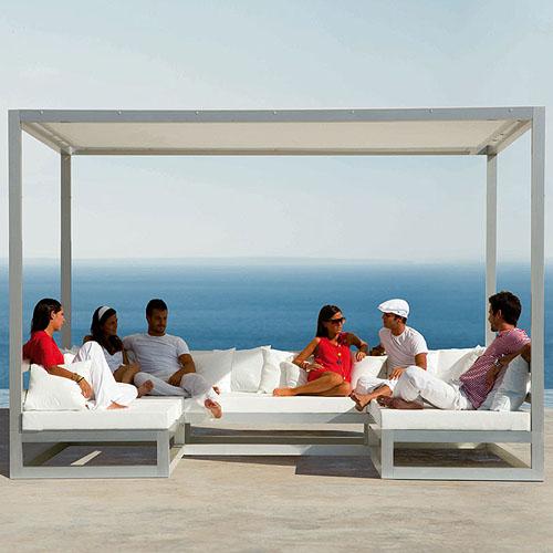 Gandia Blasco Pergola Sofa Modern Outdoor Gazebo Cabana