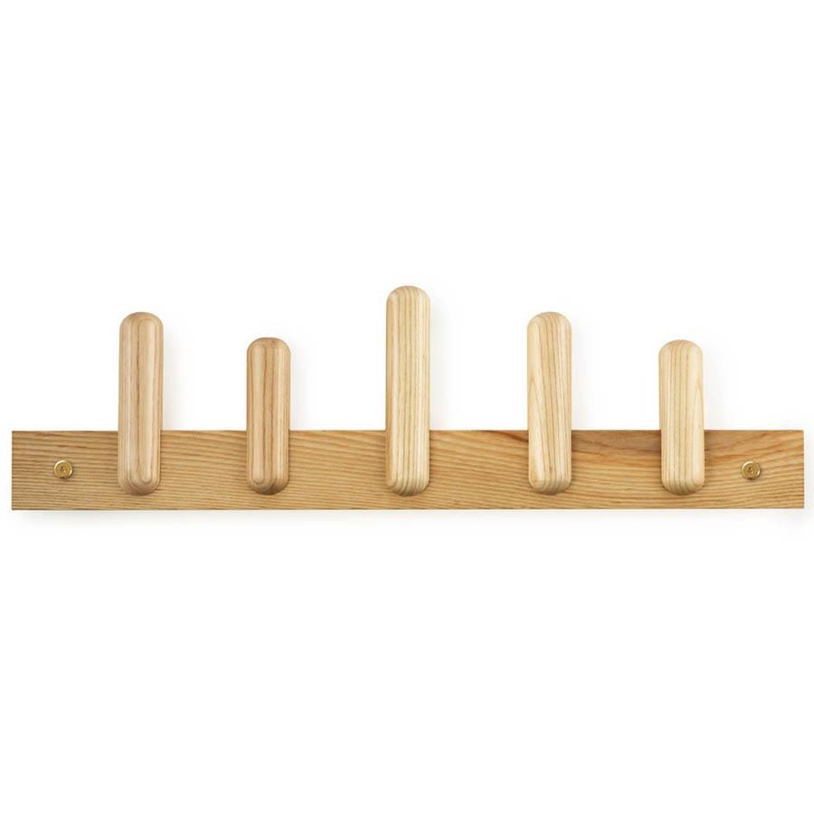 play wall mount coat rack in wood by normann copenhagen