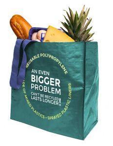 Polypropylene reusable shopping bag