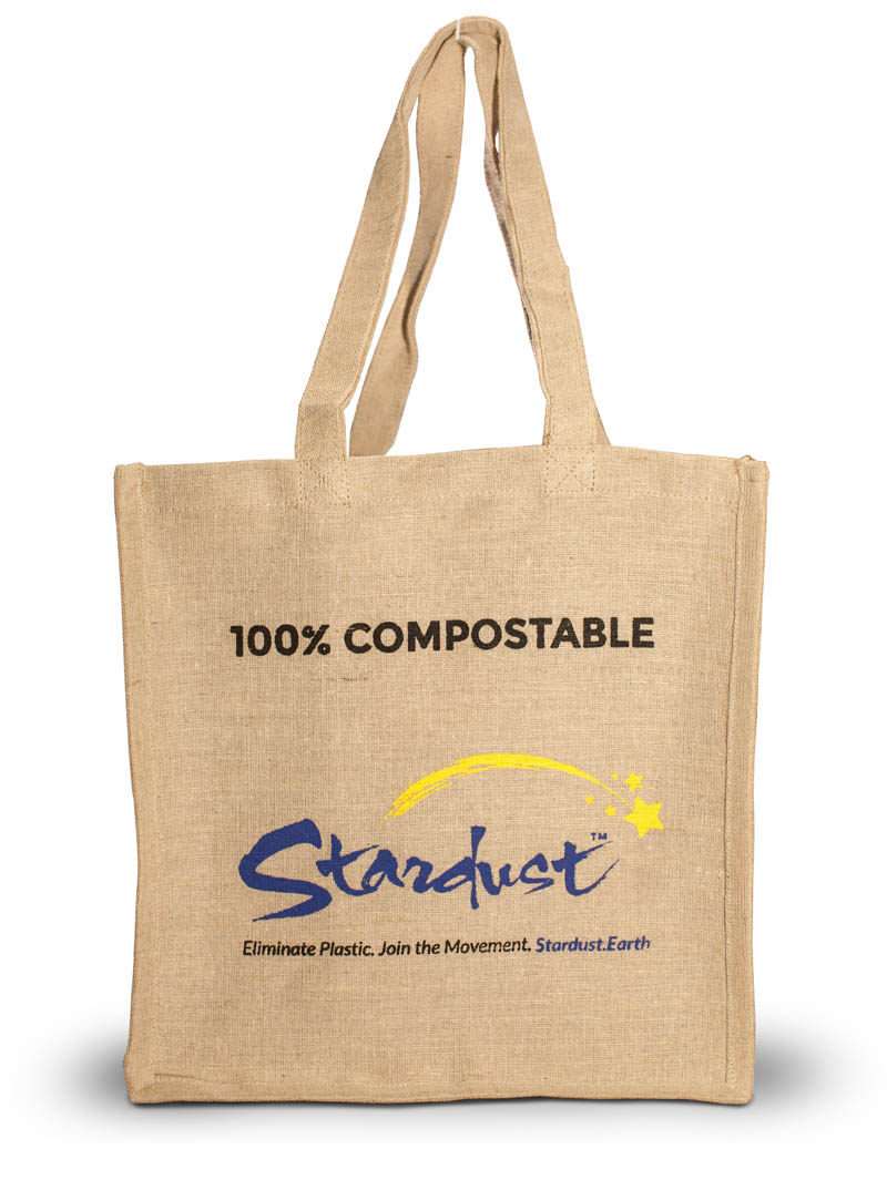 organic large grocery bag made from jute