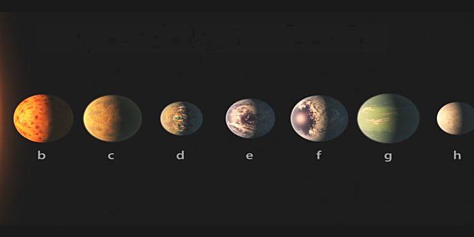 Şapte planete ca Pământul sunt la 40 de ani lumină de noi