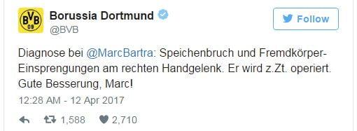 Autocarul echipei Borussia Dortmund a fost lovit de trei explozii