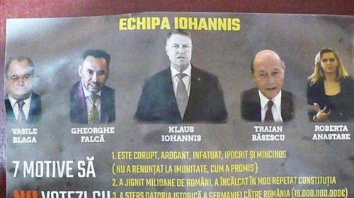 PSD pune fluturaşi pro-Dăncilă cu mesaje denigratoare despre Iohannis