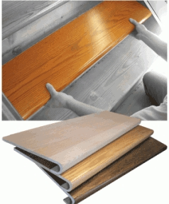 Starecasing Hardwood Stair Overlay System | Installing Hardwood Stairs Over Existing Stairs | Stair Nose | Carpeted Stairs | Risers | Wood Flooring | Stair Railing