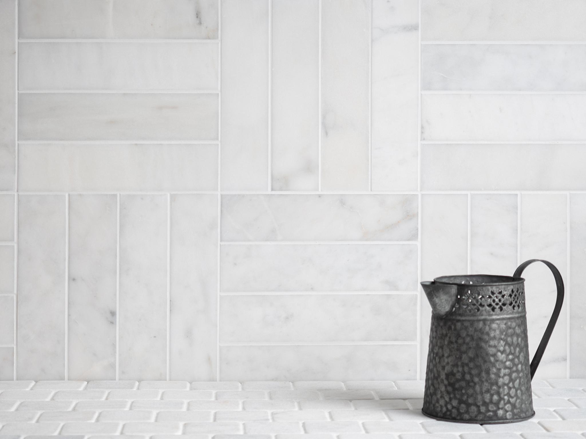 calacatta honed marble tiles