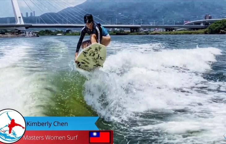 台灣快艇衝浪選手陳美彤Kimberly奪得WRS世界排名賽系列線上比賽銀牌