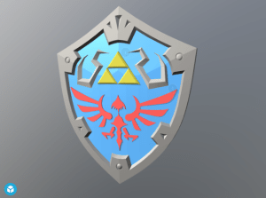 Links Hylian Shield from Breathe of the Wild