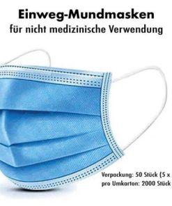 Einweg Mundschutz Mund-Nasen-Schutz 3-lagig