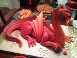 Awesome D&D themed birthday cake