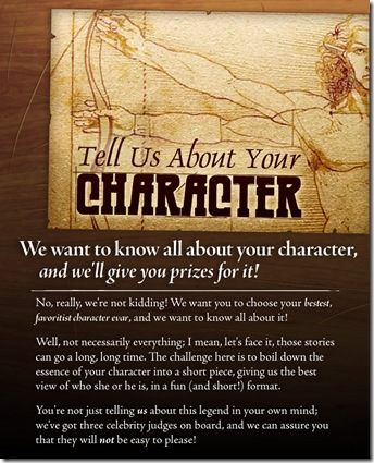 Tell Us About Your Character