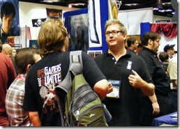 Sean talking to fans at Gen Con 2010
