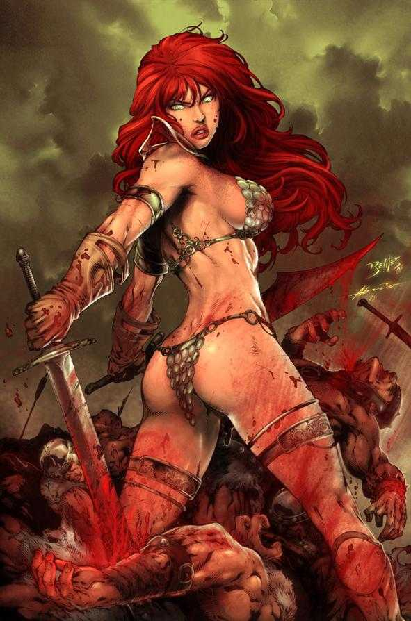 Ed Bene's suitably Amazonian Red Sonja