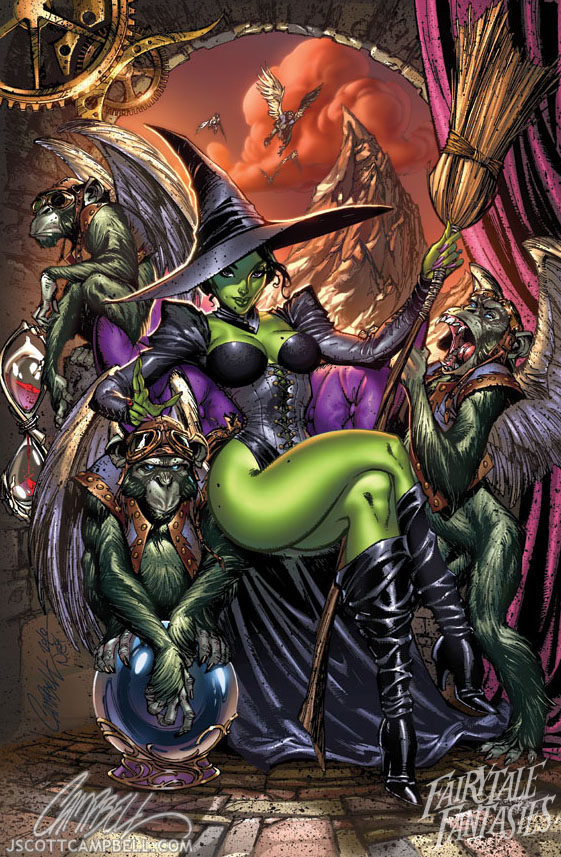wicked_witch_of_the_west_by_j_scott_campbell-d2yr8dn