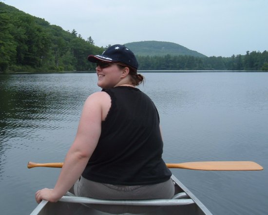 amanda in the canoe