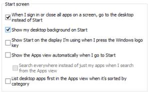 windows 8.1 - new start screen options