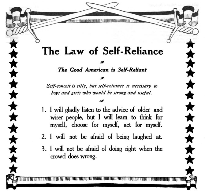 law of self-reliance