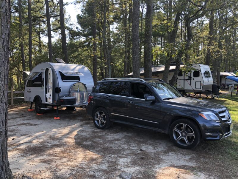 Keithmobile-E and camper at Kiptopeke State Park