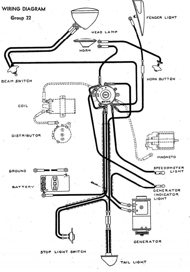 1940 1953 indian chief wire harness diagram starklite indian  1946 indian chief wiring diagram #2