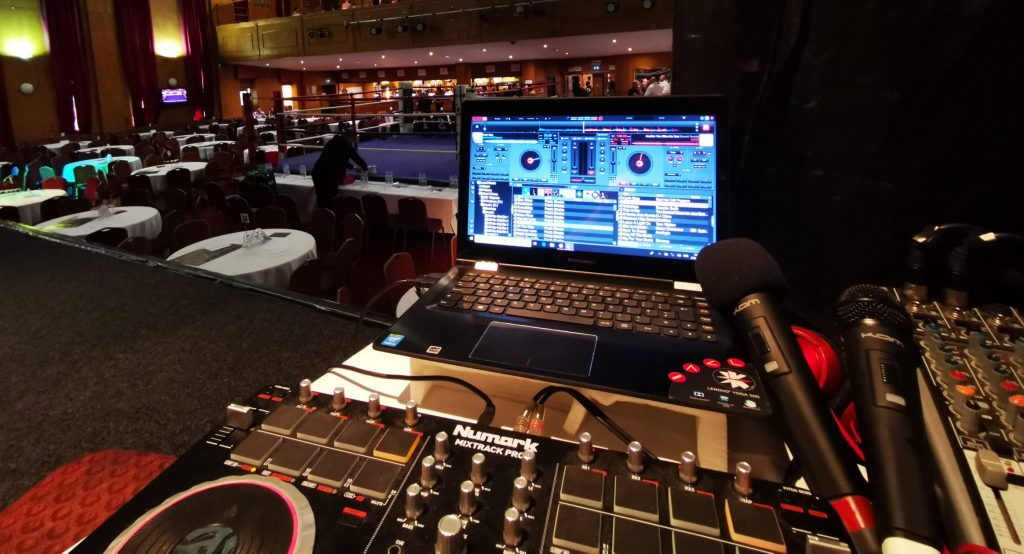 Boxing DJ and Lighting