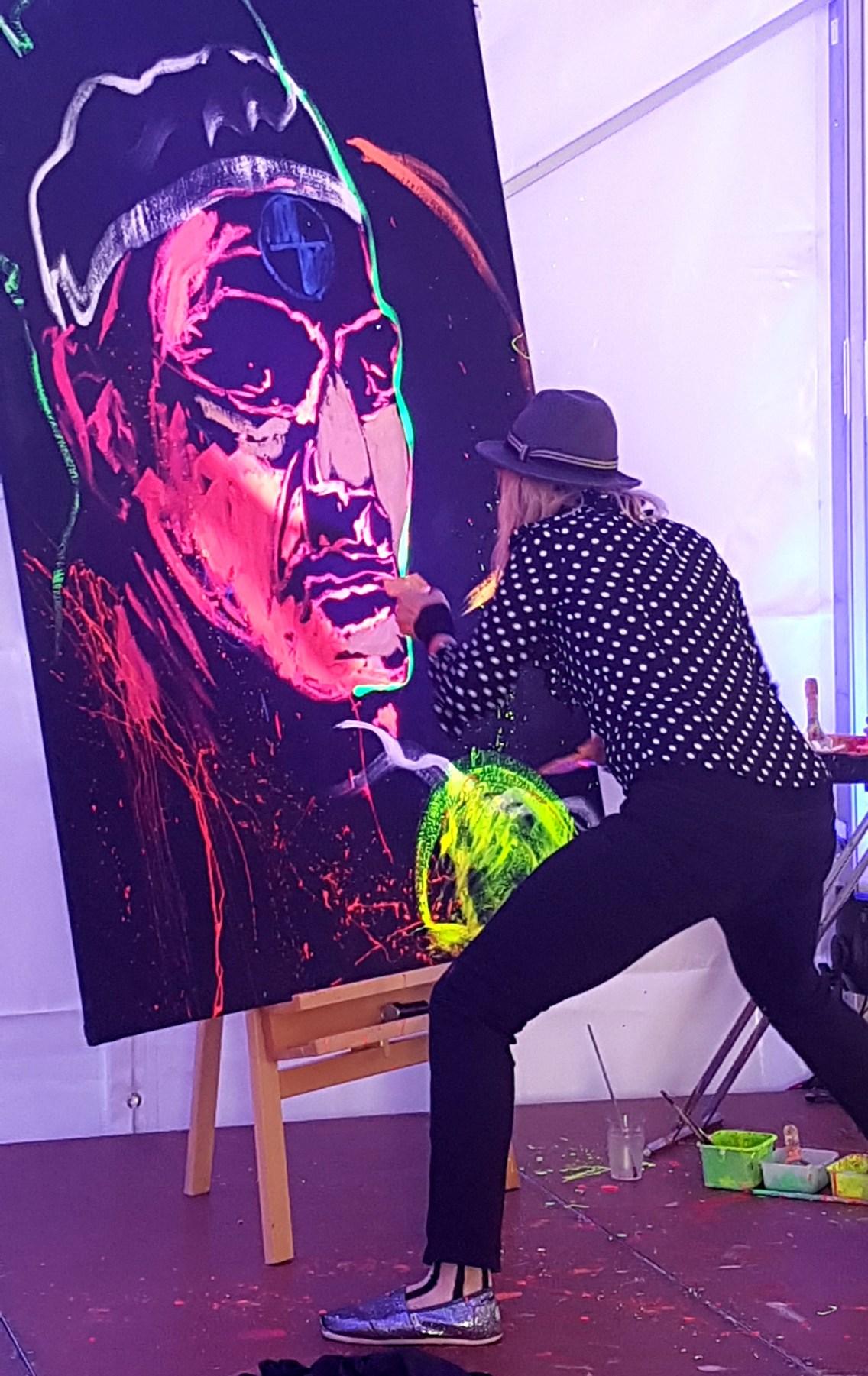 Action Painting mit Ronan Keating