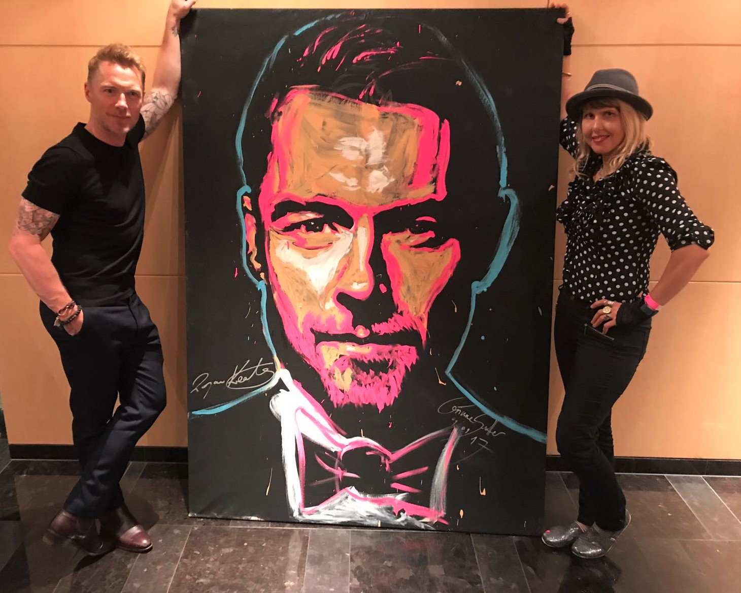 Speed Painting mit Ronan Keating