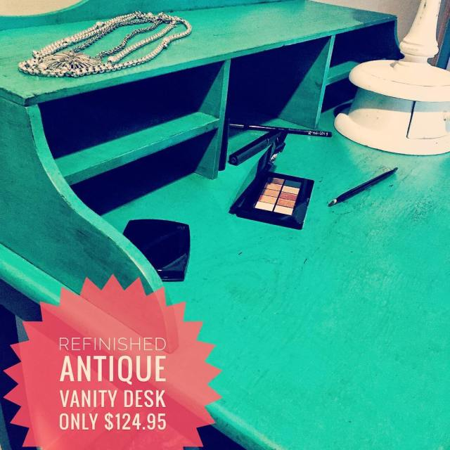 Refinished Antique Vanity Desk w top in Maison Blanche Colettehellip