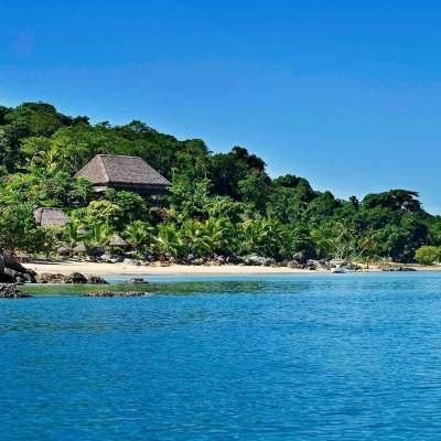 View of Tsara Komba Lodge in Madagascar