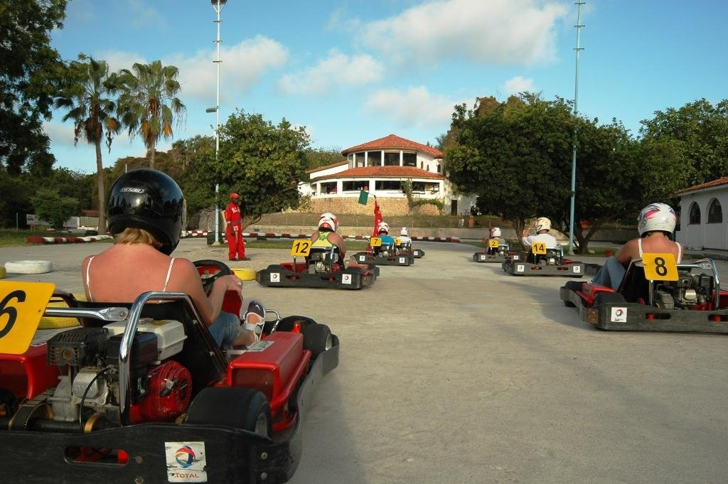 Go kart race about to start as part of many fun things to do in Mombasa