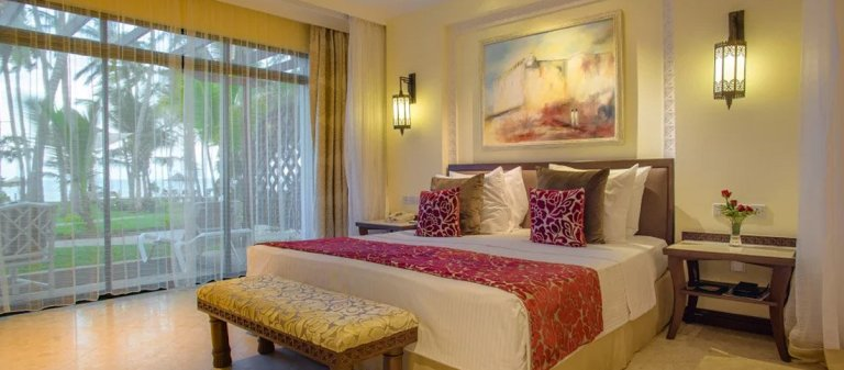 A room at Sarova Whitesands Beach Resort & Spa.