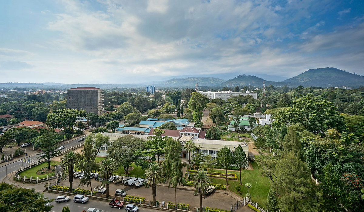 Aerial view of Arusha
