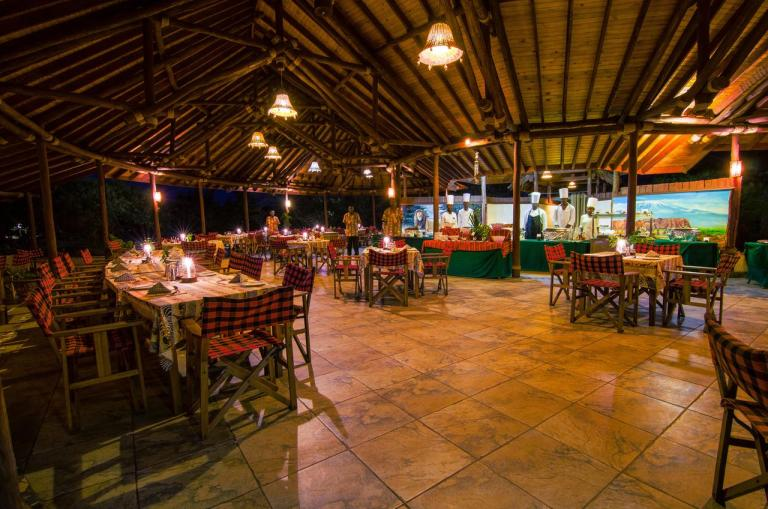 The restaurant at Sentrim Amboseli