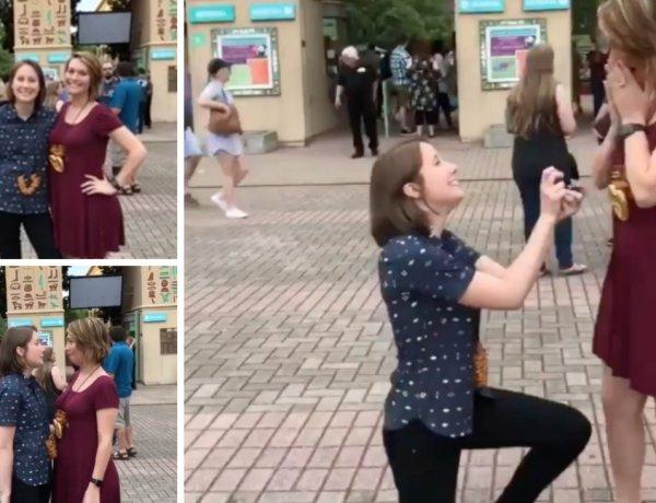 Une femme demande sa compagne en mariage : La réaction de sa petite amie est étonnante !