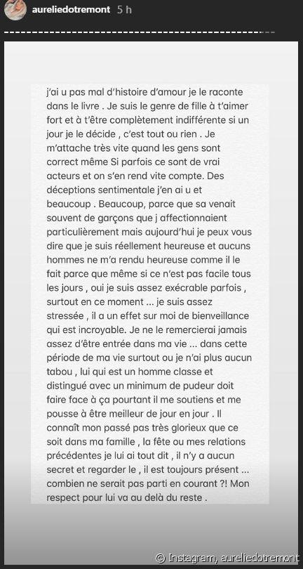 Aurélie Dotremont : Sa belle déclaration à son petit ami