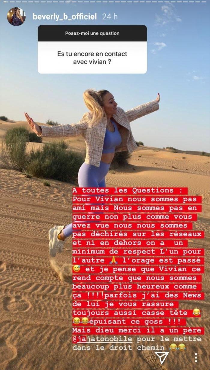 Beverly Bello en froid avec son ex Vivian Grimigni ? Elle répond !