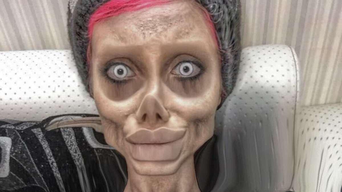 Emprisonné, le sosie zombie d'Angelina Jolie victime du coronavirus
