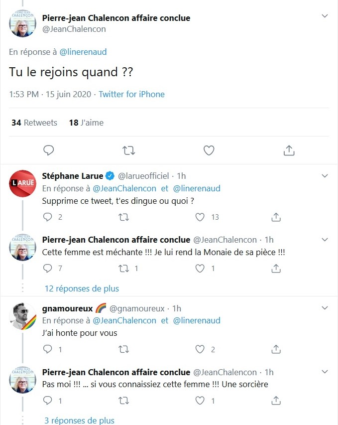 Pierre-Jean Chalençon tacle violemment Line Renaud :
