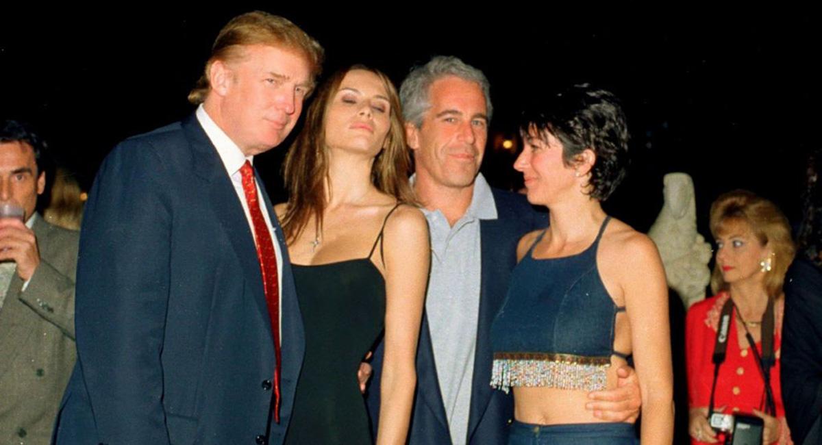 Donald et Melania Trump, Jeffrey Epstein et Ghislaine Maxwell @Sipa